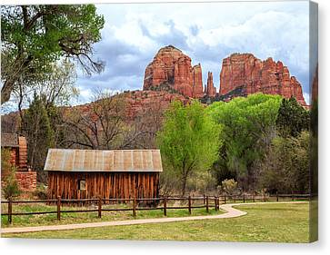 Cabin At Cathedral Rock Canvas Print by James Eddy
