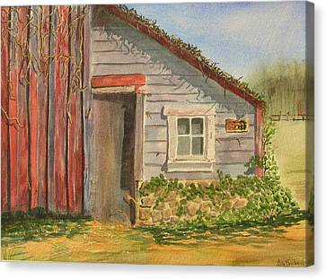 Cabin Fever Canvas Print by Ally Benbrook