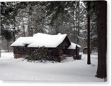Canvas Print featuring the photograph Cabin In The Woods by Denise Moore