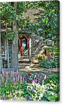 Cabin In The Woods Canvas Print by Jimmy Ostgard