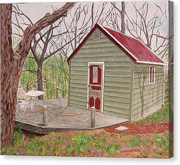 Cabin In The Woods Canvas Print by Kevin Callahan