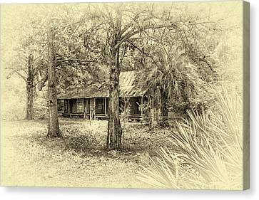Canvas Print featuring the photograph Cabin In The Woods by Louis Ferreira