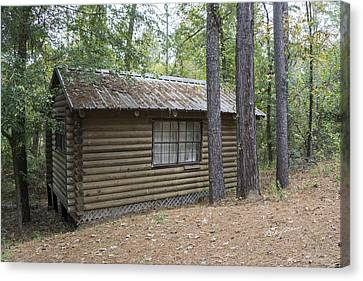 Cabin In The Woods Canvas Print by Ricky Dean