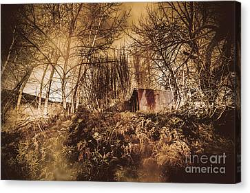 Cabin In The Woods Canvas Print by Jorgo Photography - Wall Art Gallery
