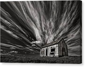 Shack Canvas Print - Cabin (mono) by Thorsteinn H. Ingibergsson
