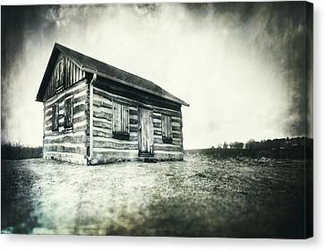 Cabin Near Paradise Springs - Kettle Moraine State Forest Canvas Print by Jennifer Rondinelli Reilly - Fine Art Photography