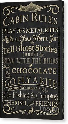 Cabin Rules II Canvas Print