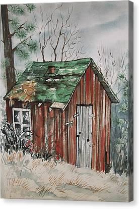 Cabin Shack Canvas Print