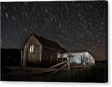 Cabin Stars Canvas Print
