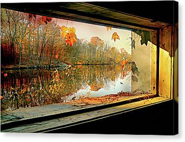 Cabin On The Ledge Canvas Print by Diana Angstadt