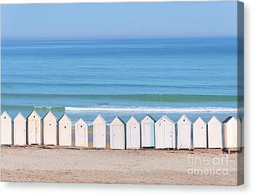 Canvas Print featuring the photograph Cabins by Delphimages Photo Creations
