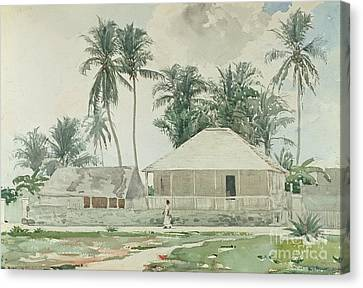 Cabins, Nassau Canvas Print by Winslow Homer