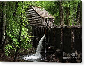 Canvas Print featuring the photograph Cable Grist Mill by Andrea Silies