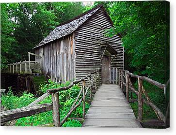 Cable Mill At Cades Cove, Great Smoky Canvas Print
