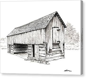 Cable Mill Barn Canvas Print by Dave Olson