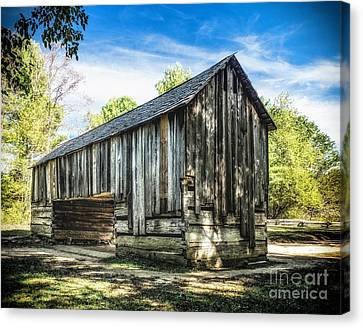Cable Mill  Cantilever Barn Canvas Print by Nick Zelinsky