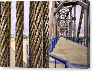 Cables And Pulleys Canvas Print by JC Findley