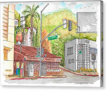 Cabo Cantina, Sunset Blvd And Sweetzer Ave., West Hollywood, California Canvas Print