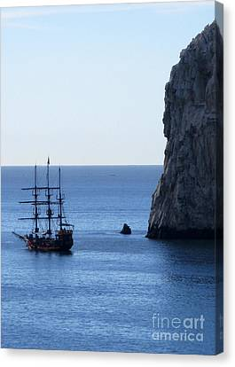 Cabo Pirate Ship Canvas Print by Randall Weidner