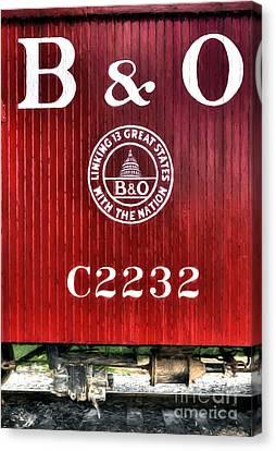 Rail Siding Canvas Print - Caboose # C2232 by Mel Steinhauer