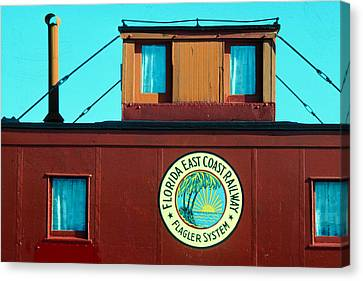 Caboose Canvas Print by Carl Purcell