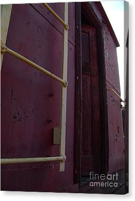 Caboose Door Canvas Print by The Stone Age