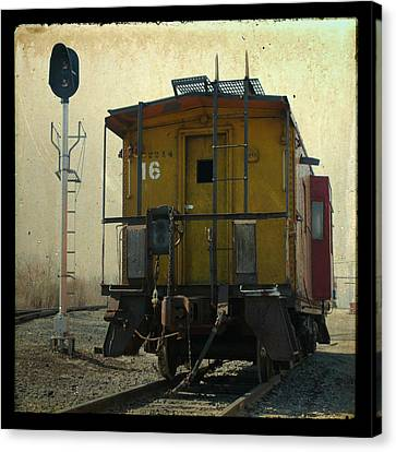 Caboose Canvas Print by Joel Witmeyer
