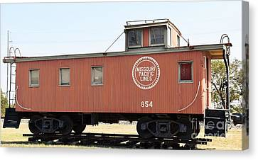 Canvas Print featuring the photograph Caboose by Ray Shrewsberry