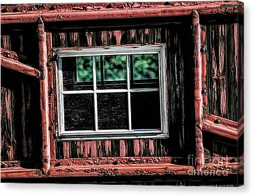Canvas Print featuring the photograph Caboose Window by Brad Allen Fine Art