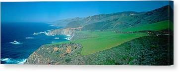 Cabrillo Highway On The California Canvas Print by Panoramic Images