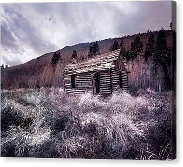 Old Cabins Canvas Print - Cache Cabin by Leland D Howard