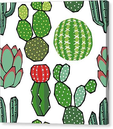 Cacti Canvas Print by Kelly Jade King