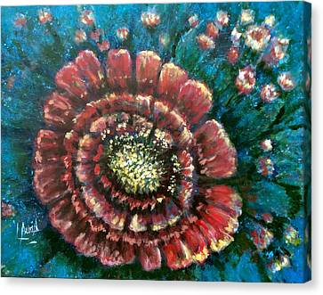 Canvas Print featuring the painting Cactus # 2 by Laila Awad Jamaleldin