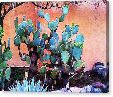 Cactus And Adobe Canvas Print