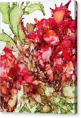 Christmas Cactus Canvas Print - Cactus Flower by Klara Acel