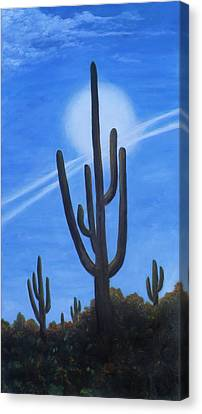 Cactus Halo Canvas Print by Judy Filarecki