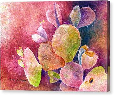 Cactus Heart Canvas Print by Hailey E Herrera