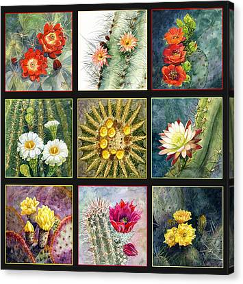 Canvas Print featuring the painting Cactus Series by Marilyn Smith
