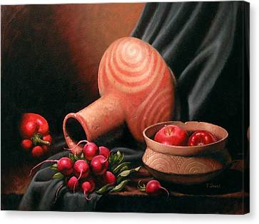 Caddo Jar - Red Study Canvas Print by Timothy Jones