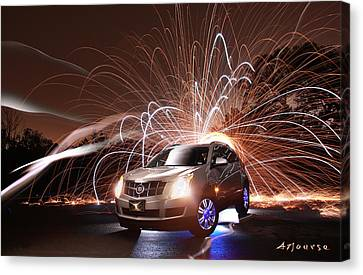 Caddy Craziness Canvas Print by Andrew Nourse