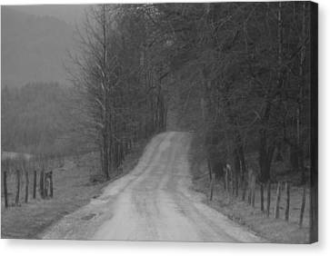 Old Country Roads Canvas Print - Cades Cove.. by Al  Swasey