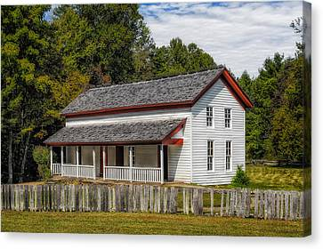 Cades Cove Gregg-cable House - 1 Canvas Print by Frank J Benz