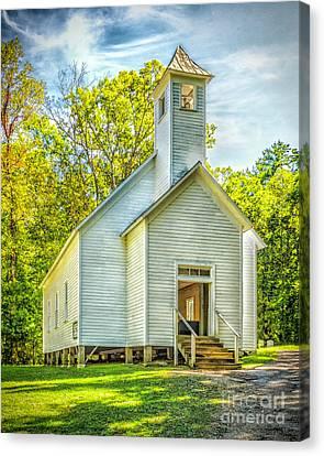 Cades Cove Missionary Baptist Church Canvas Print