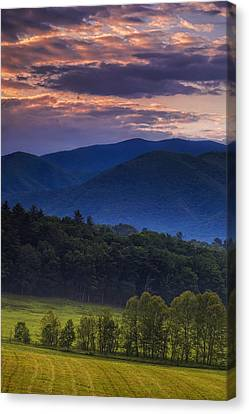 Cades Cove Morning Canvas Print by Andrew Soundarajan