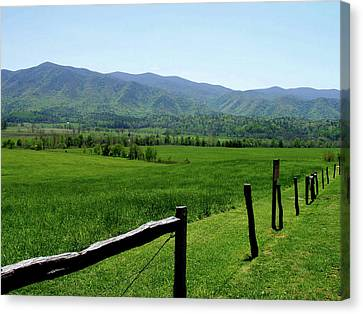 Cades Cove View Canvas Print by Nancy Mueller