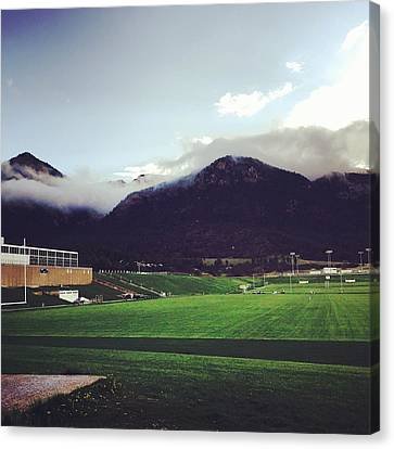 Cadet Athletic Fields Canvas Print by Christin Brodie