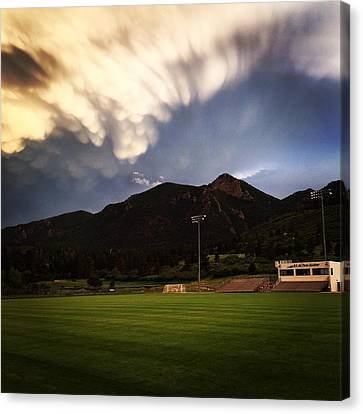 Cadet Soccer Stadium Canvas Print by Christin Brodie