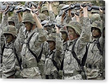 Cadets Prepare To Participate Canvas Print by Stocktrek Images