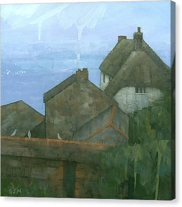 Cadgwith Rooftops Canvas Print by Steve Mitchell