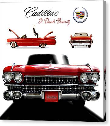 Canvas Print featuring the photograph Cadillac 1959 by Gina Dsgn